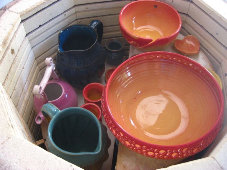 glazed pottery